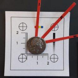 Una moneda de denario, acuñada por Roma entre 108 y 107 aC - CRÉDITO: GOETHE UNIVERSITY / SWNS.COM